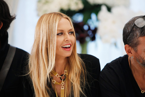 NEW YORK - FEBRUARY 11:  Designer Rachel Zoe watches the run through of the presentation for the Rachel Zoe Autumn Winter 2012 fashion show during New York Fashion Week on February 11, 2012 in New York City.  (Photo by Amy Sussman/Getty Images)