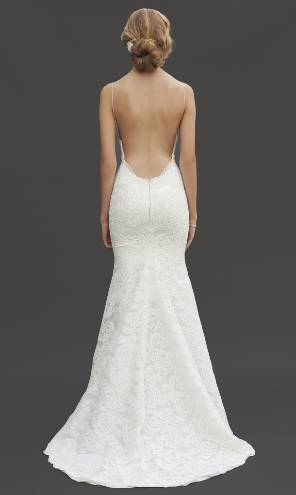 Back less wedding gown