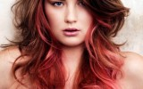 Chocolate Cherry Pink Ombre Hairstyle