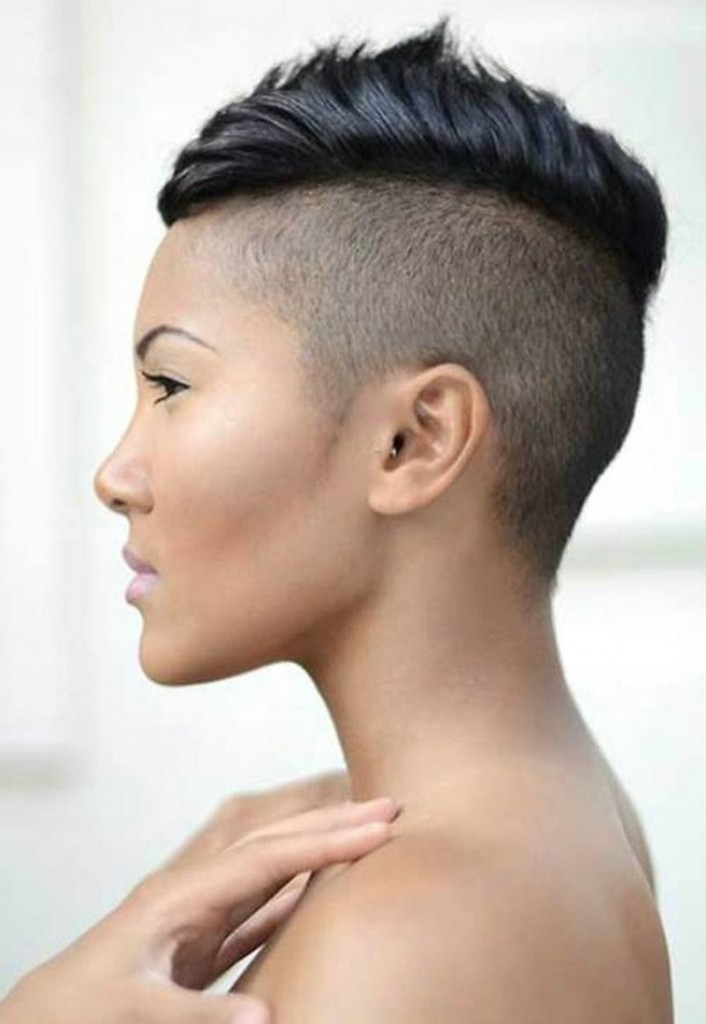 Side Thin Mohawk Black Women