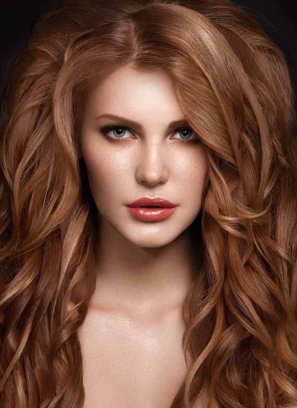 Strawberry blonde hairstyle