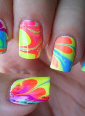 Crazy Acrylic Nail Art