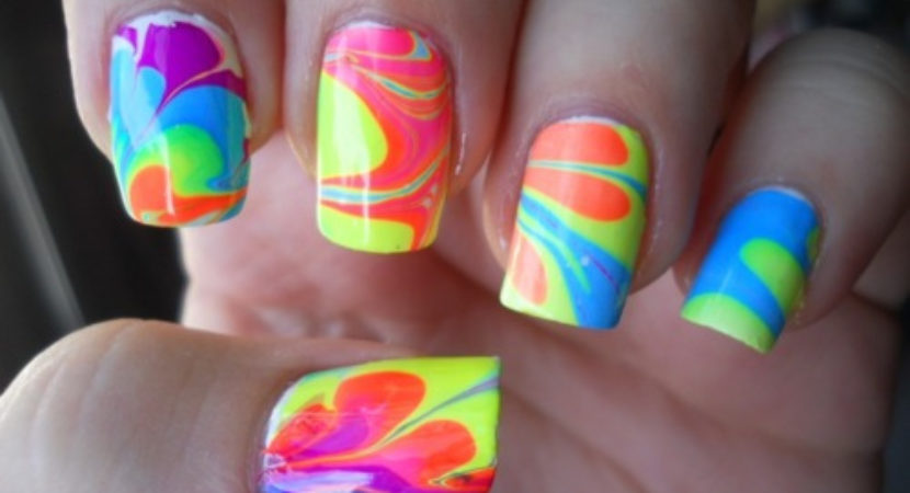 Crazy Acrylic Nail Art
